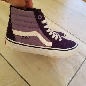 Women's size 6 mens 4.5 purple Vans LA